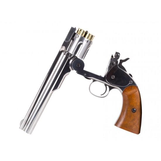 Schofield No. 3 Nickel CO2 BB Revolver, Full Metal