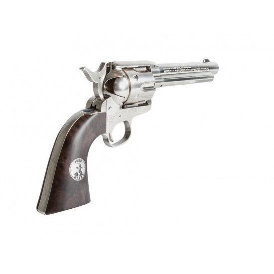 Duke SAA Colt Peacemaker CO2 BB Revolver, Nickel