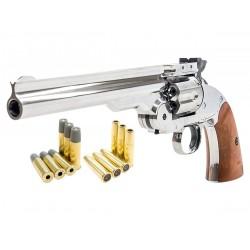 Schofield No. 3 Nickel Dual Ammo CO2 BB Gun Kit, Full Metal