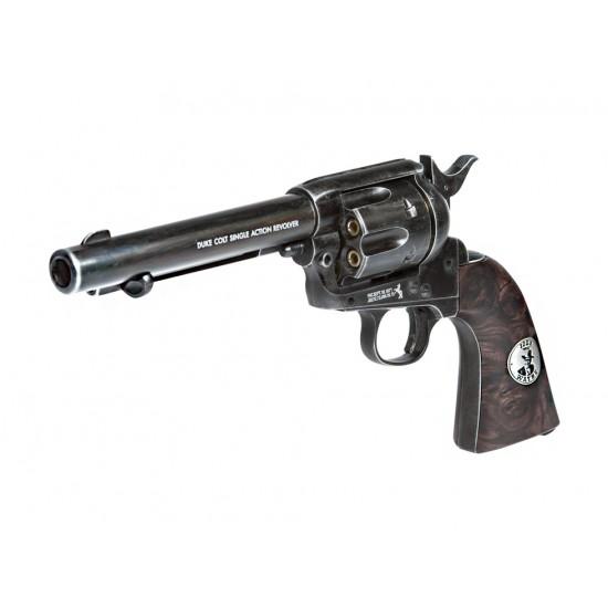 Duke Colt CO2 Pellet Revolver, Weathered