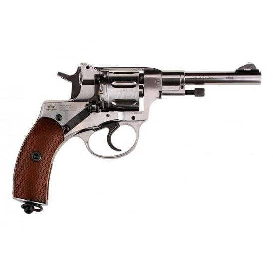 Gletcher NGT CO2 Pellet Revolver, Silver
