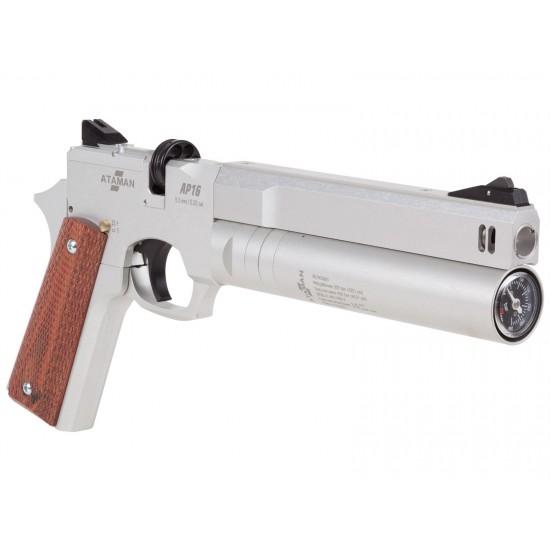 Ataman AP16 Regulated Compact Air Pistol, Silver