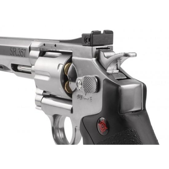 Crosman SR.357 CO2 Revolver, Silver