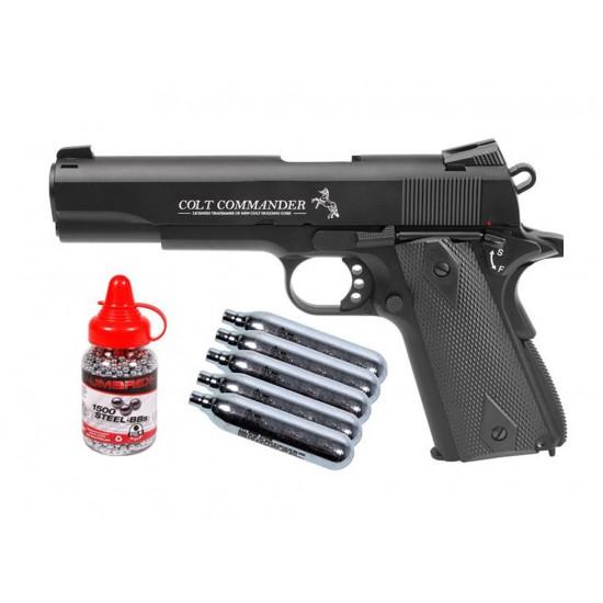 Colt Commander BB CO2 Blowback Pistol Kit