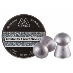 Air Arms Diabolo Field Heavy .22 Cal, 5.52mm, 18 Grains, Round Nose, 250ct