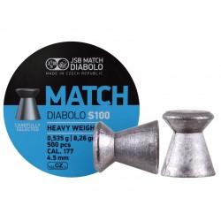 JSB Blue Match Heavy Weight  .177 Cal, 8.26 Grains, Wadcutter, 500ct