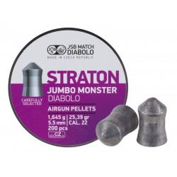 JSB Diabolo Jumbo Straton Monster, .22-Cal, 25.39gr, 200 ct