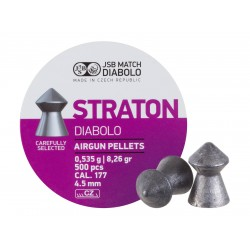 JSB Straton .177 Diabolo, 8.26gr, Pointed 500 ct