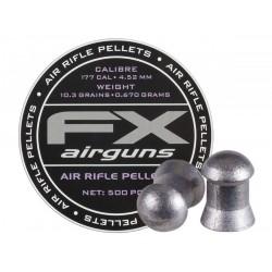 FX Air Rifle Pellets .177 Cal, 10.3 Grains, Domed, 500ct., 4.52mm