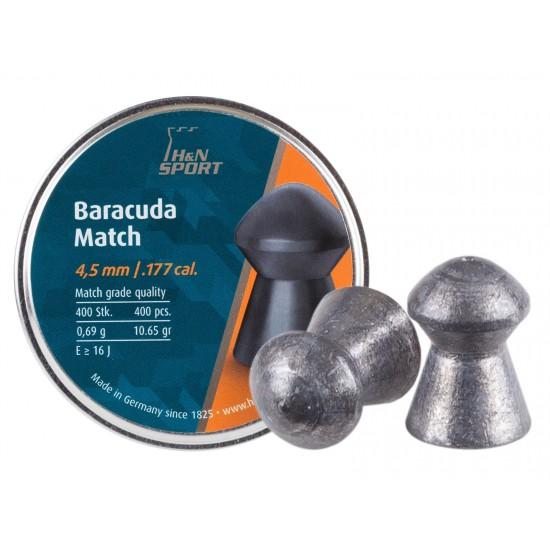 H&N Baracuda Match .177 Cal, 10.65 Grains, Round Nose, 400ct