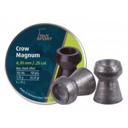 H&N Crow Magnum .25 Cal, 26.23 Grains, Hollowpoint, 150ct