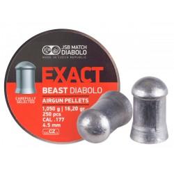 JSB Exact Beast Diabolo .177 Cal Pellets, 16.20 Grains, Domed, 250ct