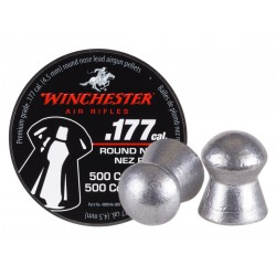 Winchester .177 Cal Pellets, 9.8 Grains, Round Nose, 500ct