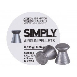 JSB Simply Pellets .177 Cal, 8.26 Grains, Wadcutter, 500ct