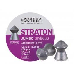 JSB Diabolo Jumbo Straton .22, 15.89gr, Pointed, 250 ct