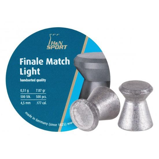 H&N Finale Match Light .177 Cal, 7.87 Grains, 4.50mm, Wadcutter, 500ct