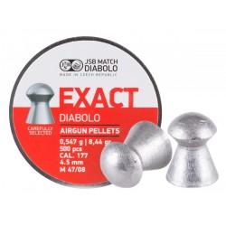 JSB Match Diabolo Exact .177 Cal, 8.44 Grains, Domed, 500ct, 4.53mm
