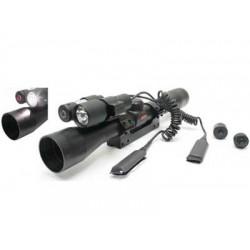 Gamo Varmint Hunter Kit, 4x32 Rifle Scope, Laser & Flashlight