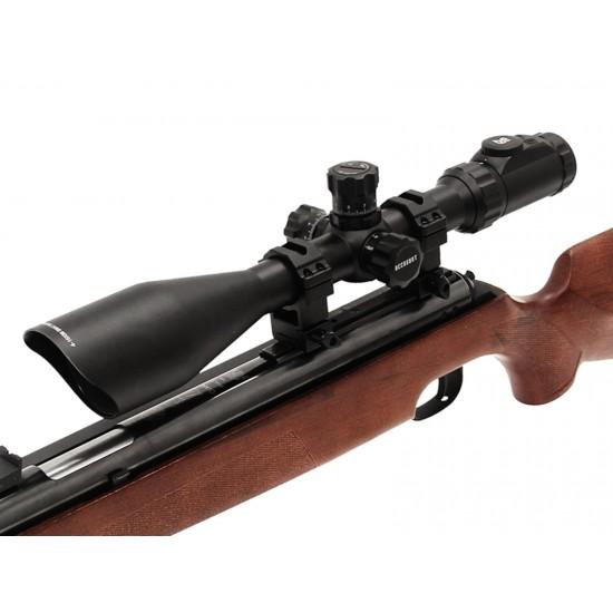 UTG 4-16x56 Bubble Leveler AO Rifle Scope, SWAT AO, EZ-TAP, Illuminated Etched-Glass Mil-Dot Reticle, 1/8 MOA, 30mm Tube, Weaver/Picatinny Rings