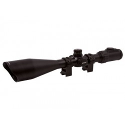 Leapers UTG 6-24x56 AO Accushot SWAT Rifle Scope, EZ-TAP, Illuminated Mil-Dot Reticle, 1/8 MOA, 30mm Tube, See-Thru Weaver Rings