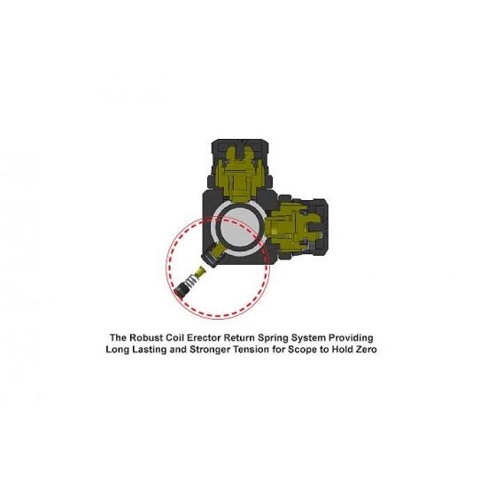 UTG 2-16x44 AO Accushot SWAT Rifle Scope, EZ-TAP, Ill. Mil-Dot Reticle, 1/4 MOA, 30mm Tube, Weaver Rings