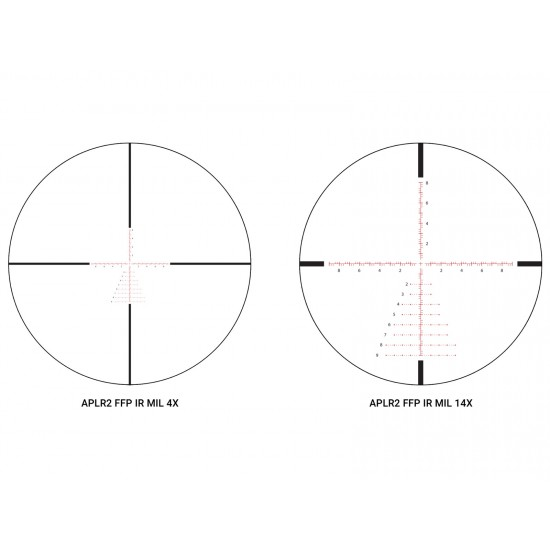 Athlon Optics 4-14x44 Talos BTR Tactical Rifle Scope, FFP Ill. Mil Reticle, 0.1 MIL, 30mm Tube