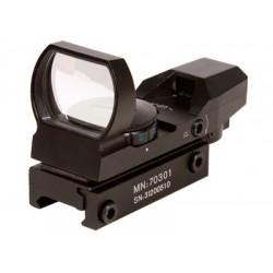 CenterPoint Optics 32mm Open Reflex Sight, 4 Red/Green Reticles, 1 MOA, Weaver Mount