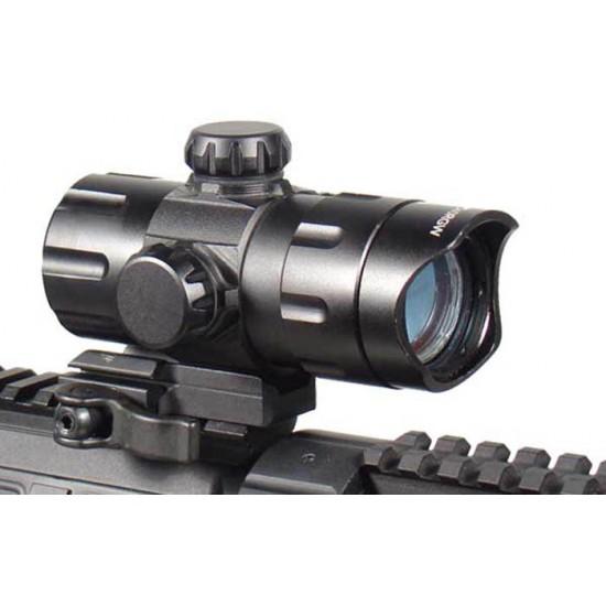 1x32.5mm ITA Combat Red/Green Dot Sight, 1/2 MOA, 38mm Tube, Riser, Quick-Detach Weaver/Picatinny Mount