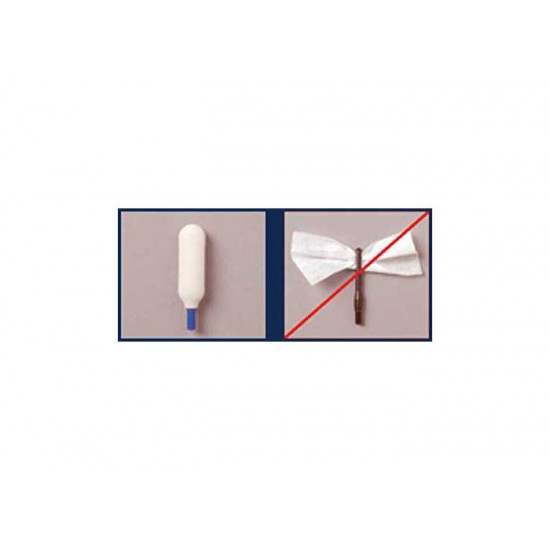 Super Brush Swab-its Bore-tips Foam Cleaning Swabs, 9mm, 8-32 Threads, 6ct