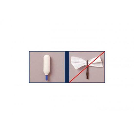Super Brush Swab-its Bore-tips Foam Cleaning Swabs, .22 Cal, 8-32 Threads, 6ct