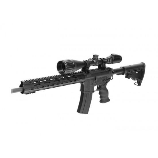 6-24x50 AO True Hunter Rifle Scope, EZ-TAP, Ill. Mil-Dot Reticle, 1/4 MOA, 1